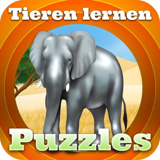 Lernen Sie die Tiere mit Puzzles