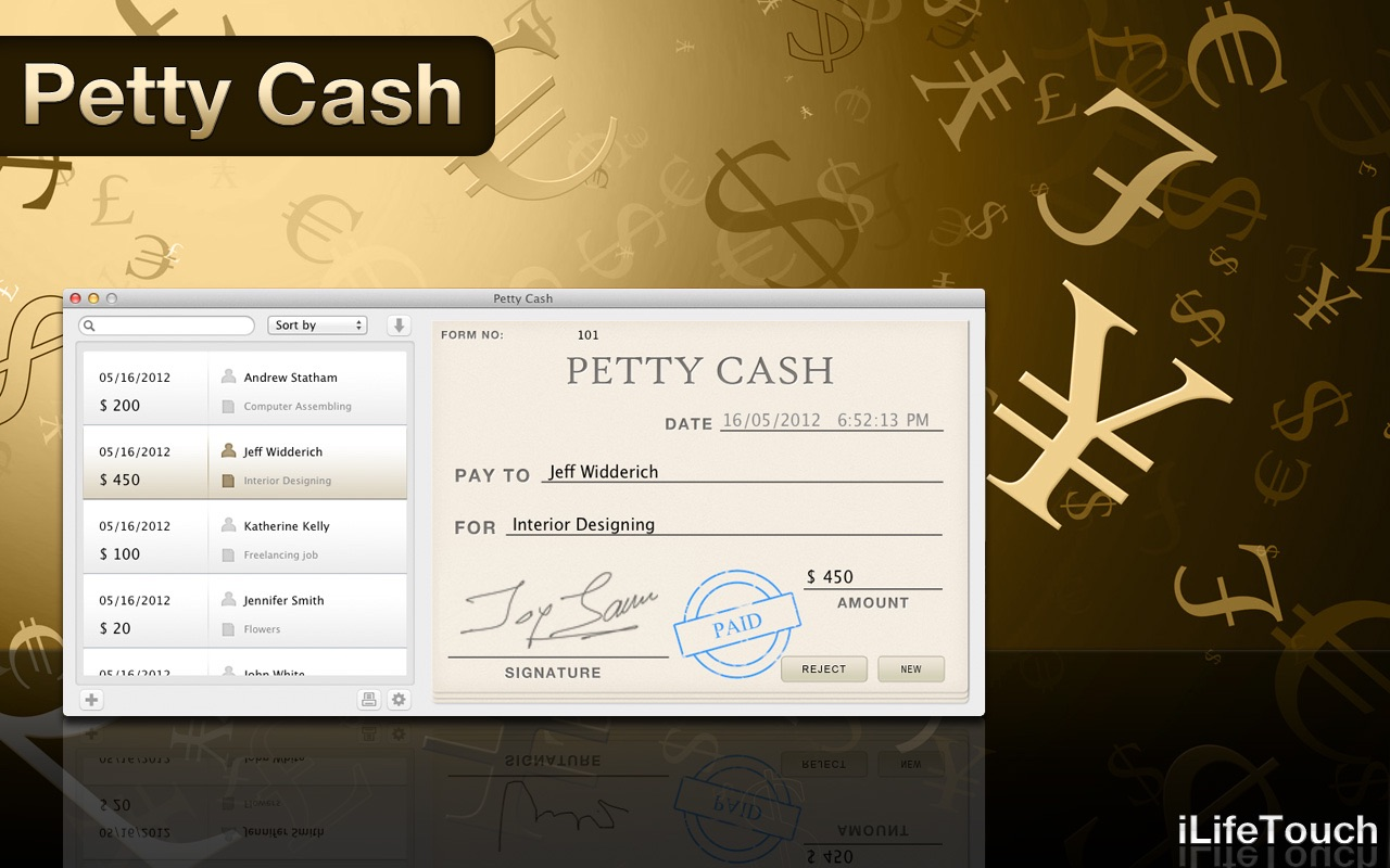 Petty Cash on the MacAppStore