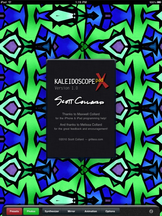 Kaleidoscope X for iPad