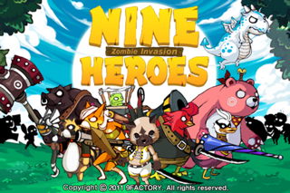 9Heroes Defence : Zombie Invasion iPhone app afbeelding 1