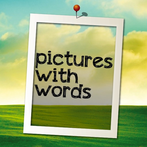 Pictures with Words Pro app logo