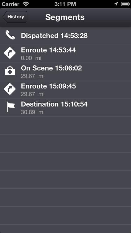 EMS Tracker - EMT, Fire and Ambulance GPS Log screenshot-4
