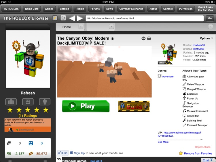 The Browser for ROBLOX