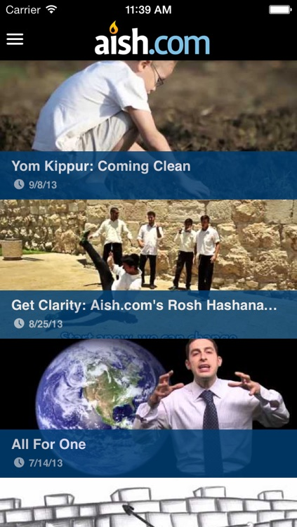 Aish.com: The Judaism iPhone App screenshot-0