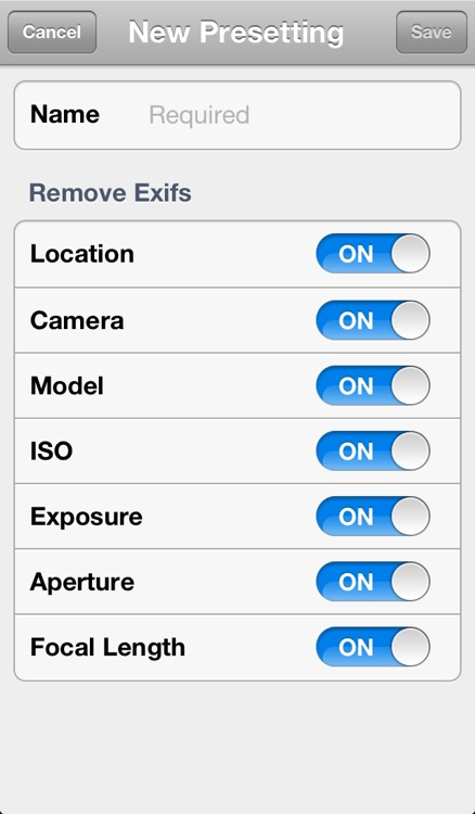 TrashExif - Metadata of photo remover with presetting screenshot-4
