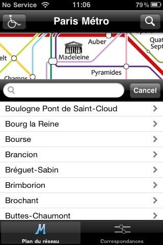 Paris Metro for iPod/iPhone screenshot-3