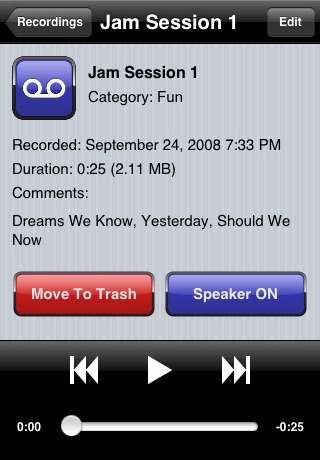 SpeakEasy Voice Recorder screenshot four