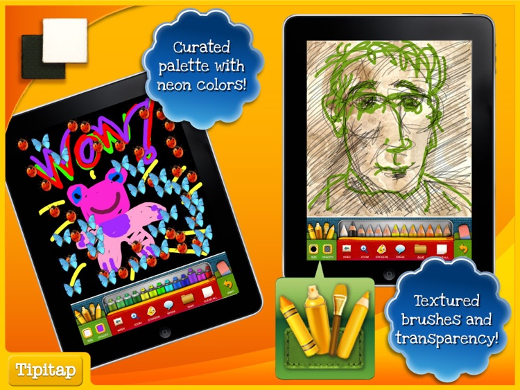 Color & Draw for kids HD: 4 apps in 1 - Coloring Book for iPad screenshot-4