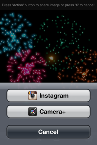Real Fireworks Artwork Visualizer Free for iPhone and iPod Touch screenshot three