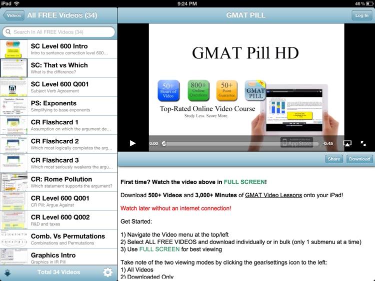 GMAT Pill HD screenshot-3