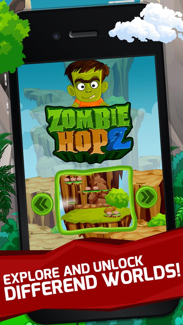 Zombie Hop 2 : Fun Free Jumpy Classic Arcade Adventure Games screenshot two