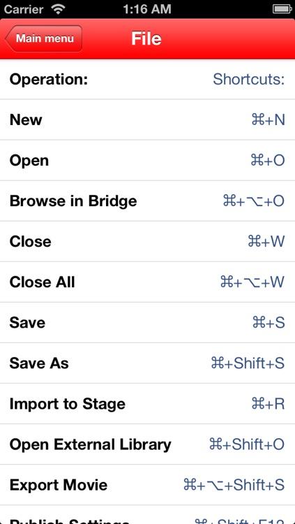 Shortcuts for Flash screenshot-3