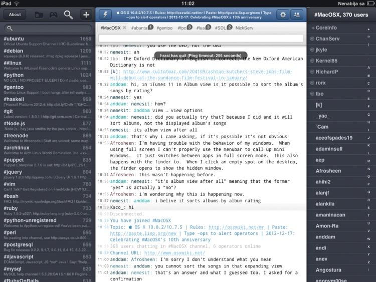 Mango IRC HD - Chat client