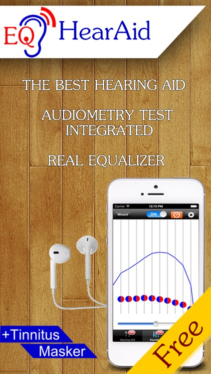 EQ HearAid + Tinnitus Masker - Hearing aid with adiogram test - check your hearing and volume amplifier with equalizer