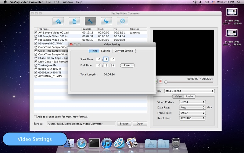 SeaSky Video Converter Screenshot