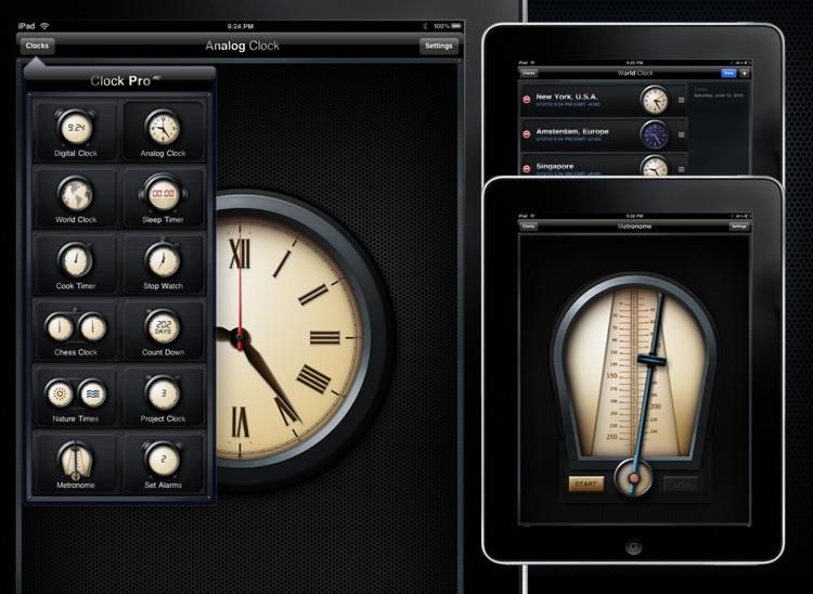 Clock Pro HD Free screenshot-3