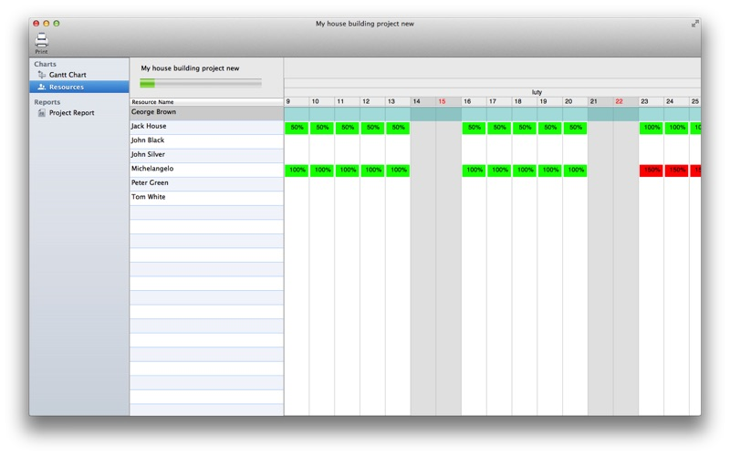 Project Planner Viewer Screenshot