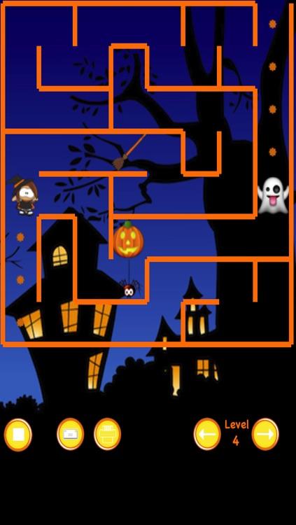 Halloween Witch Maze Race