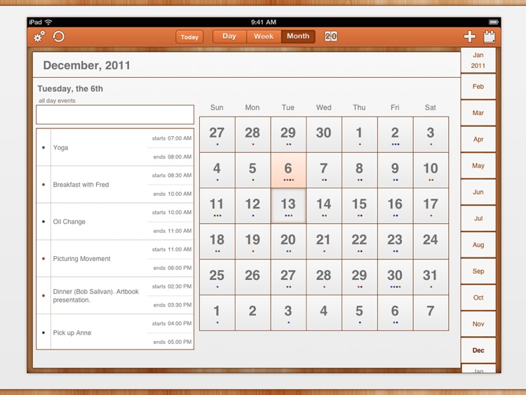 GoCal for Google Calendar™ HD screenshot-1