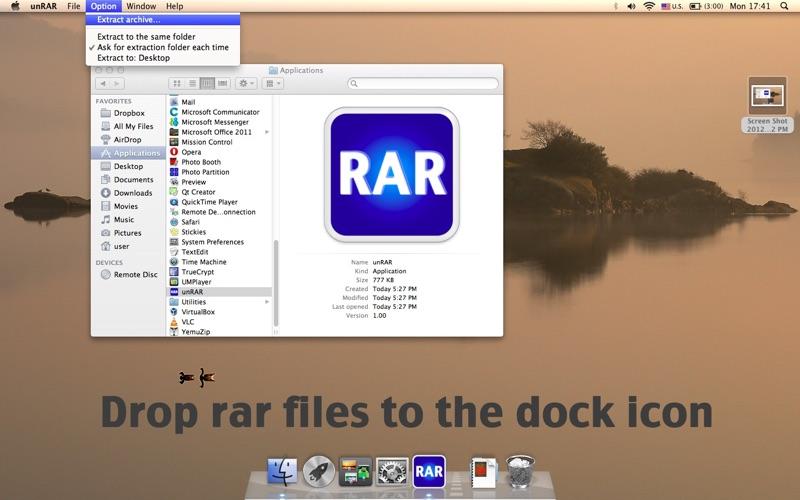 unRAR Screenshot