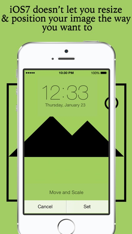 WallFit - Fix wallpaper for iOS7 custom home screen, lock screen & background  and Rotate, resize and position your pictures to make custom wallpaper