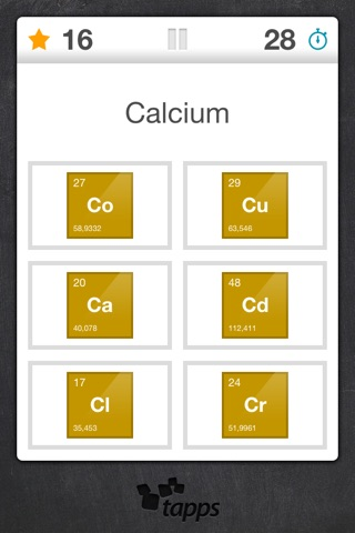 Elements periodic table element quiz by tapps tecnologia da elements periodic table element quiz urtaz Images