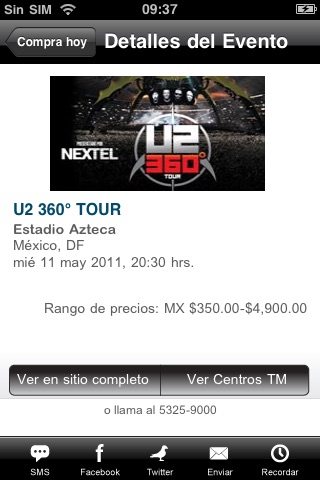 Ticketmaster México screenshot-0