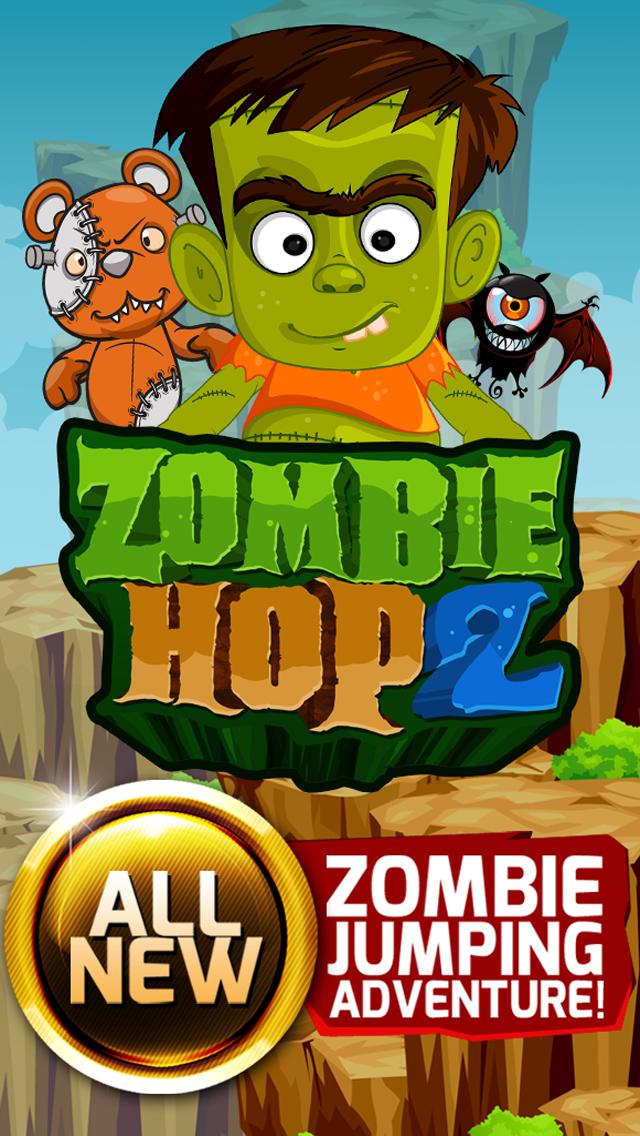 Zombie Hop 2 : Fun Free Jumpy Classic Arcade Adventure Games screenshot one