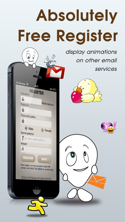 dokomail – Email of decoration & emoji - Free mail service screenshot-4