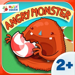 Angry Monster – loves Candies! Kids Apps for toddlers and preschoolers aged 2 and above - by Happy Touch Kids Games®