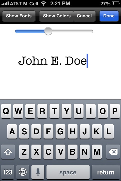 PDF Sign for iPhone : Sign and fill PDF documents screenshot-3