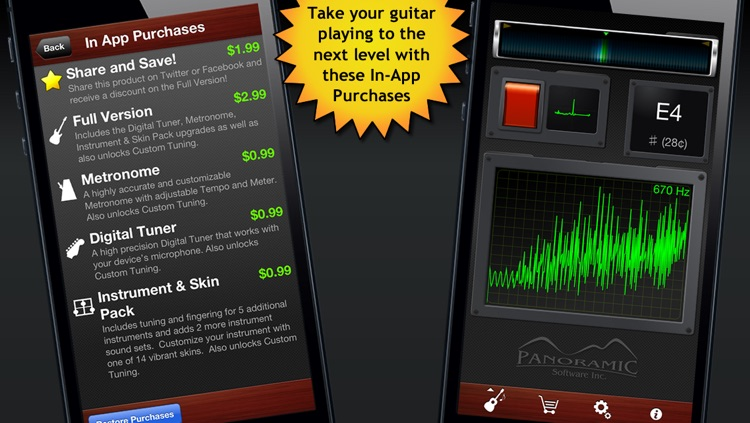 Guitar Suite Free - Metronome, Tuner, and Chords Library for Guitar, Bass, Ukulele screenshot-2