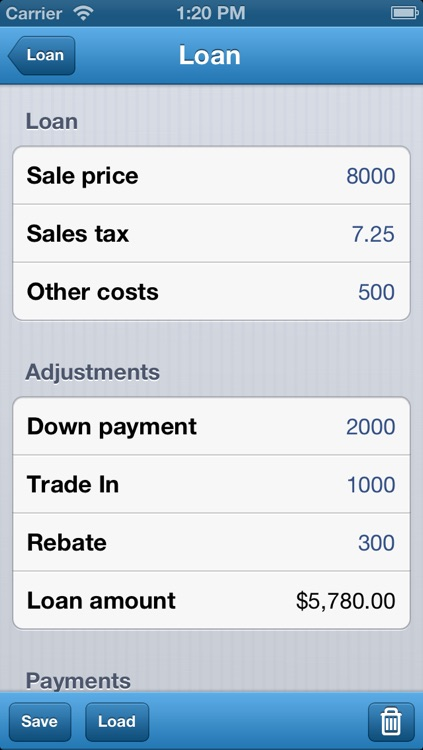 Loan Calculator - Auto, Bank, & Personal Loans screenshot-0