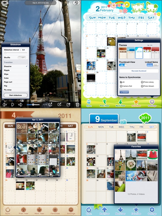 Awesome Photo Calendar HD Lite screenshot-4
