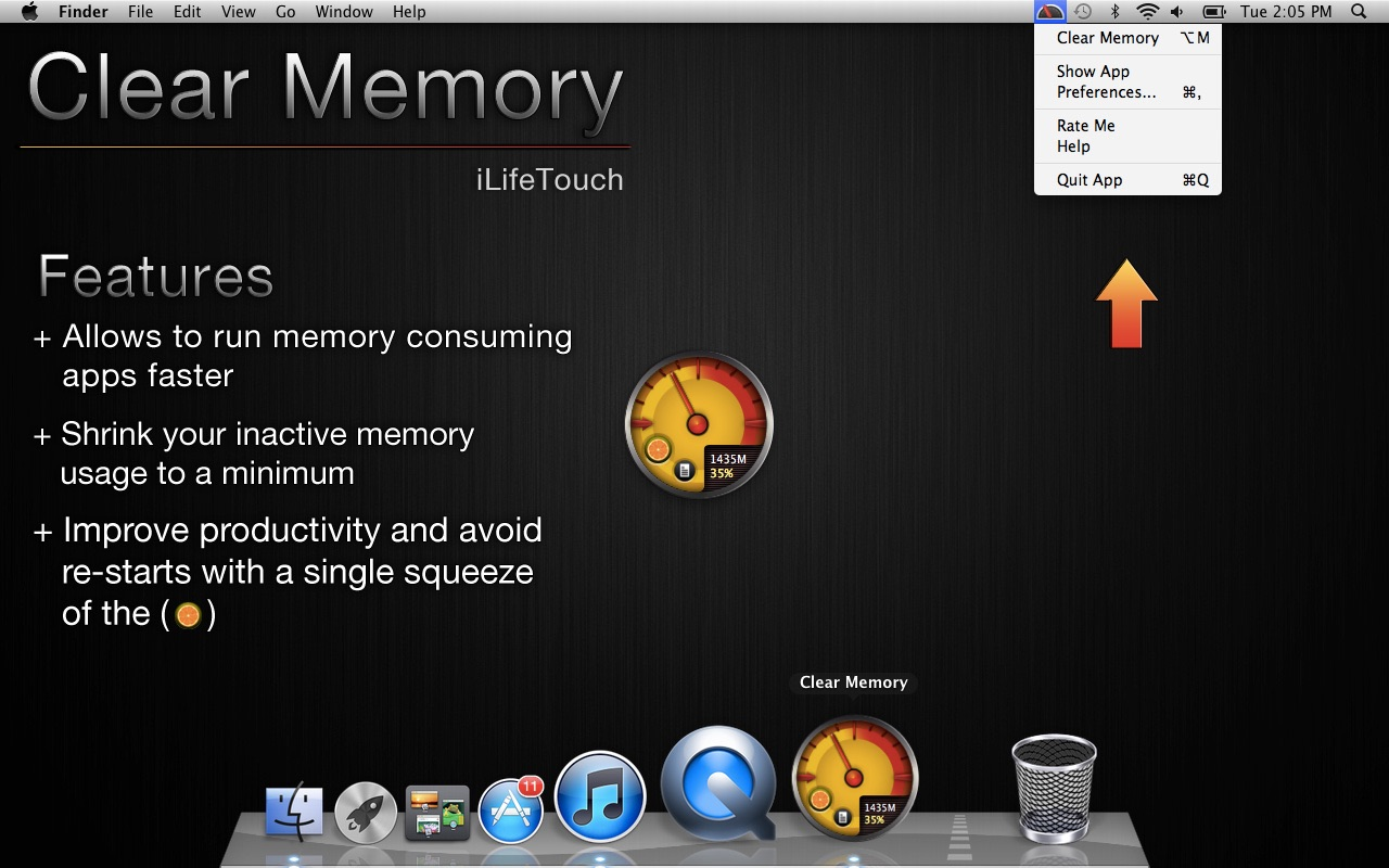 Clear Memory on the Mac App Store
