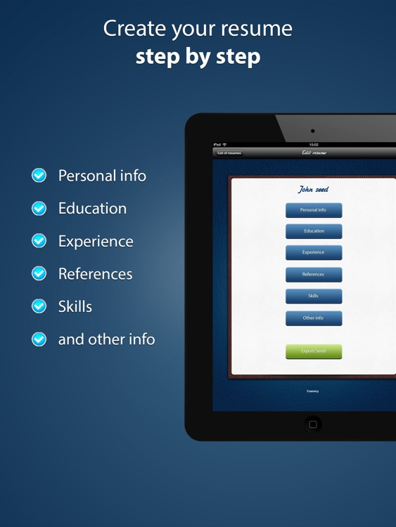 Pocket Mobile Resume PRO screenshot-1