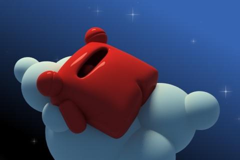 Sleeping Carl on a cloud