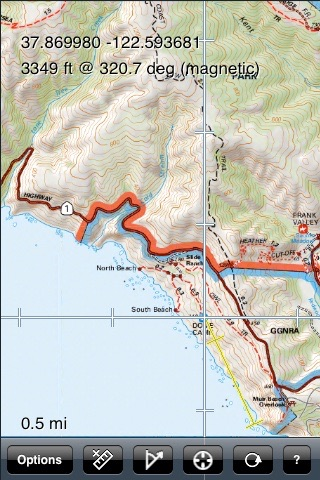 Mt Tam Trail Map screenshot-3