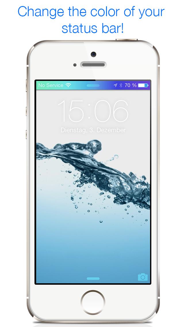 アンリーシュド色 - 壁紙やステータスバーを自由に変更・カスタマイズして画面をクールなデザインに、iOS 7の画面をスパイスアップのおすすめ画像1