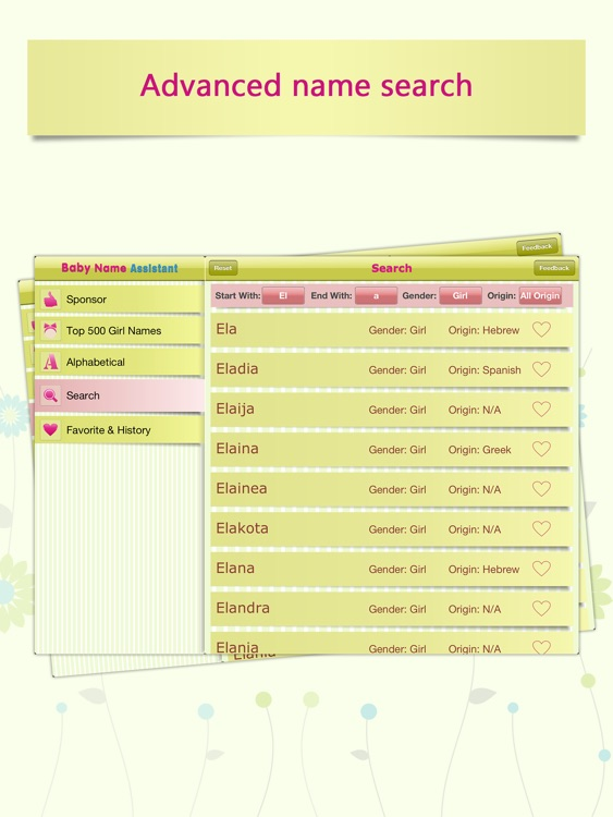Baby Girl Name Assistant for iPad screenshot-3