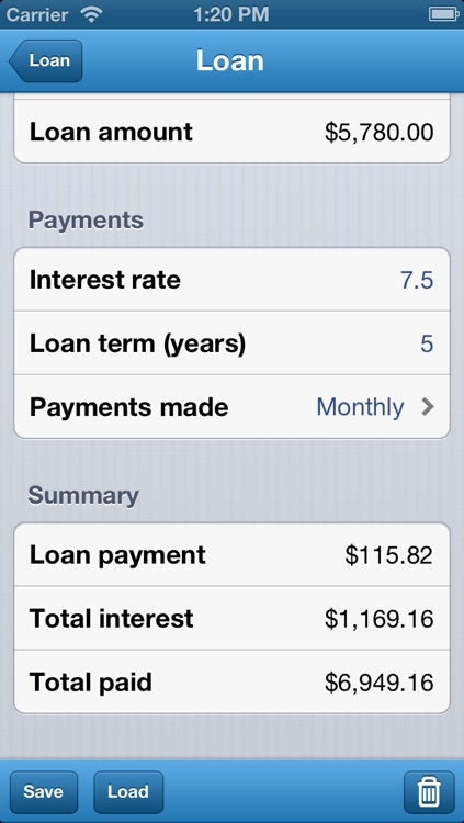 Loan Calculator - Auto, Bank, & Personal Loans screenshot-1
