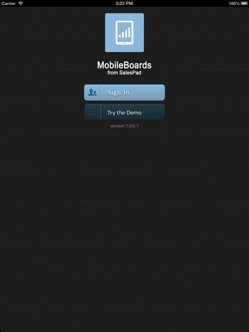 Screenshot of MobileBoards