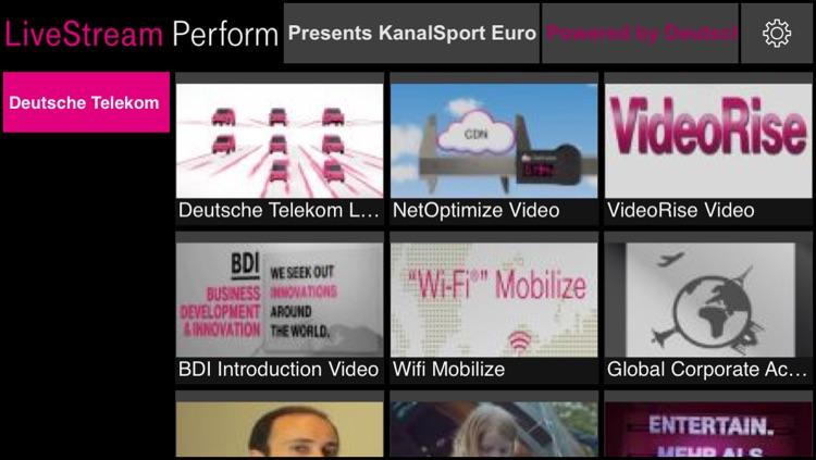 LiveStream Perform, Live TV