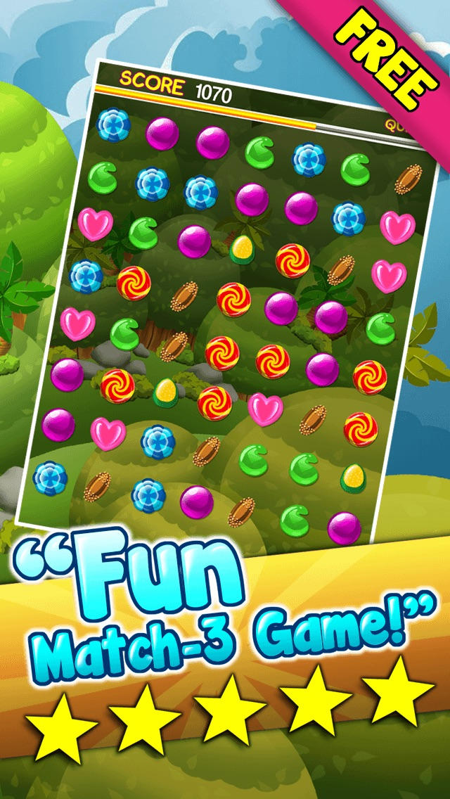 Candy Games Blitz Mania Free - Play Great Match 3 Game For Kids And Adults HD Screenshot on iOS