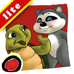 Rowdy Raccoon and the Turtle Who Wanted to Fly is an interactive story book for kids that brings to light that every person is unique and important; written by Donna C. Braymer,  illustrated by Shachi Kale (iPad Lite Version; by Auryn Apps)