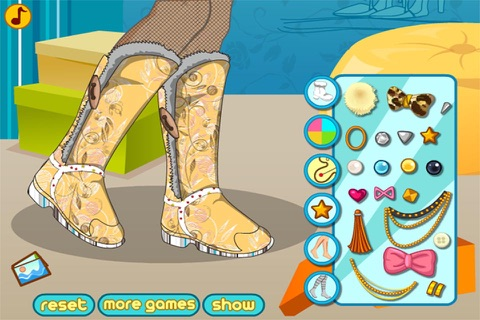 Winter Boots Decor : Shoes Design And Makeover screenshot 3