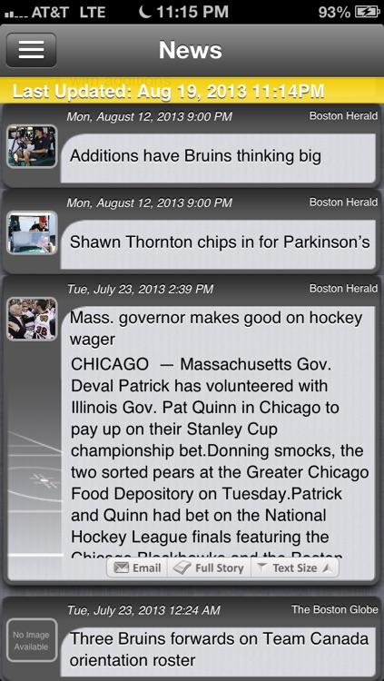 Boston Hockey Live screenshot-3