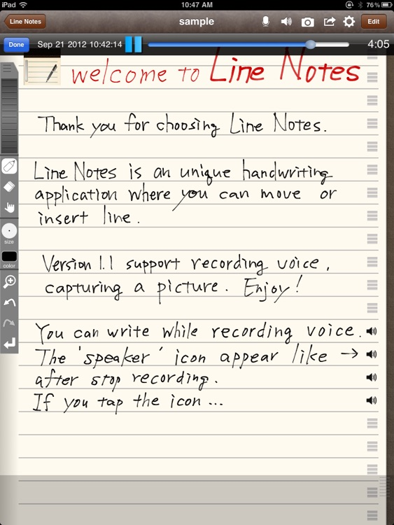 Line Notes screenshot-1