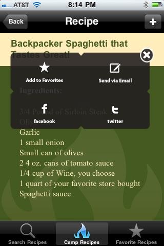 Camp Recipes! screenshot-4