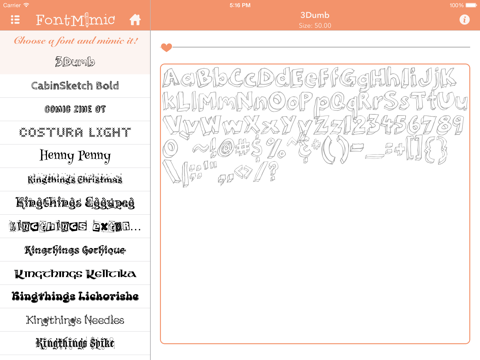 FontMimic HD screenshot 3